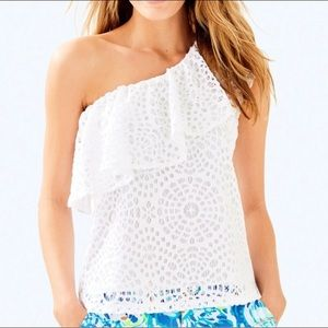Lilly Pulitzer Matteo Top Lace Small S NEW NWT